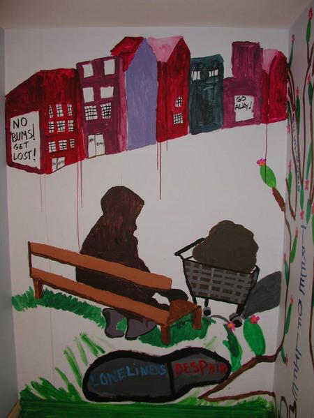 Mural_woman_bench
